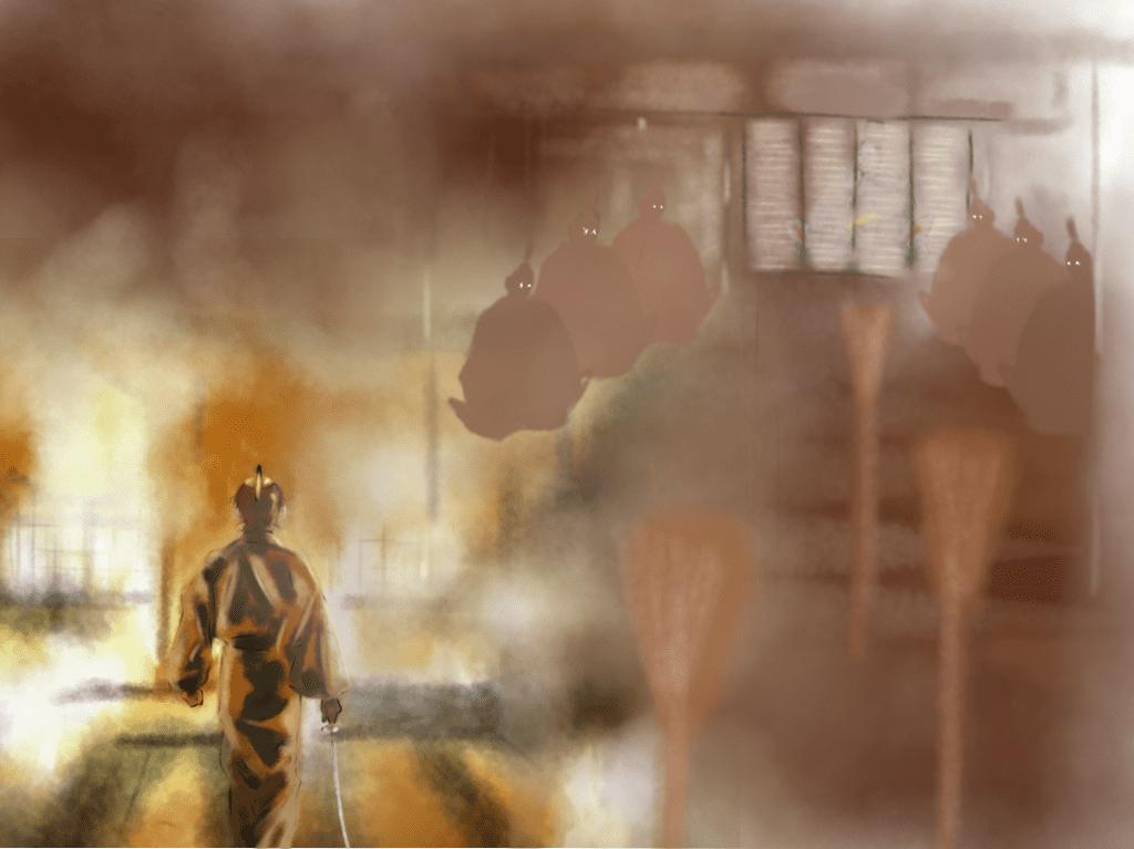 本能寺朝廷黒幕説のイラスト