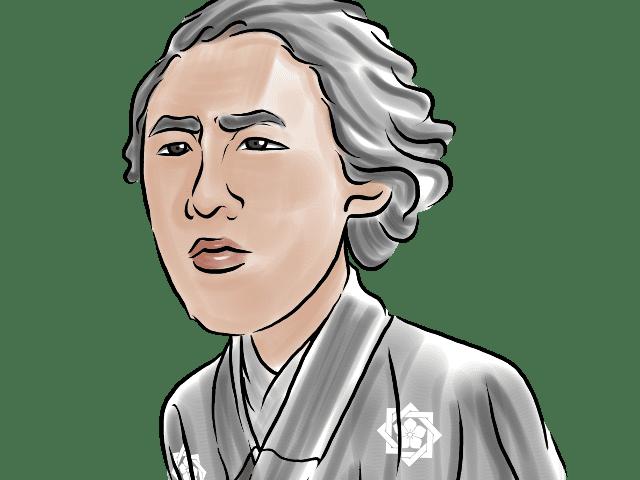 坂本龍馬のイラスト