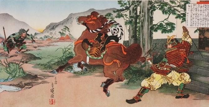 国史画帖大和桜(福井市立郷土歴史博物館蔵)