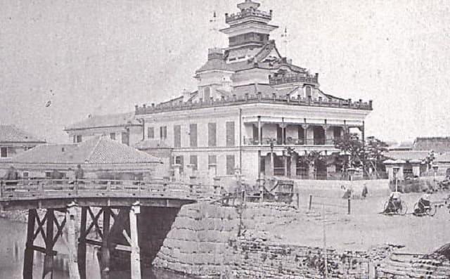 兜町(現在の東京都中央区日本橋兜町)にあった第一国立銀行の本店