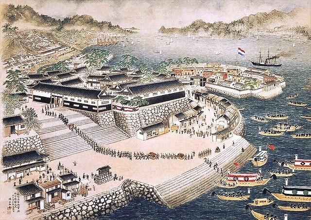 『長崎海軍伝習所絵図』(鍋島報效会蔵)