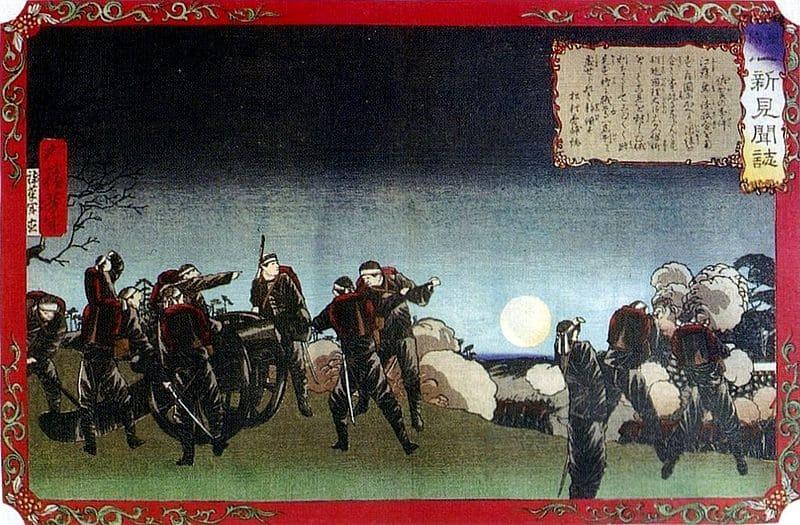 佐賀の乱の浮世絵(月岡芳年 画)