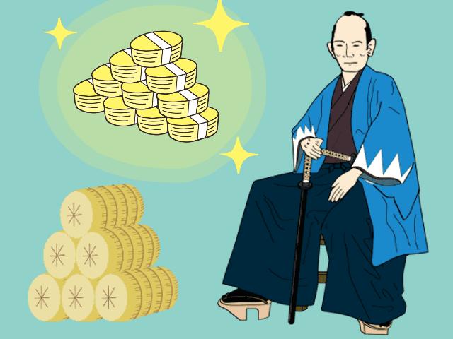 侍(新選組隊員)と禄のイラスト