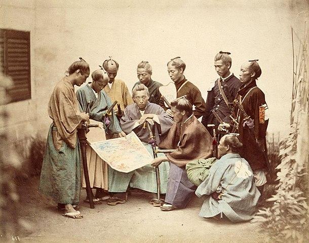 戊辰戦争中の薩摩藩の藩士(フェリーチェ・ベアト撮影)