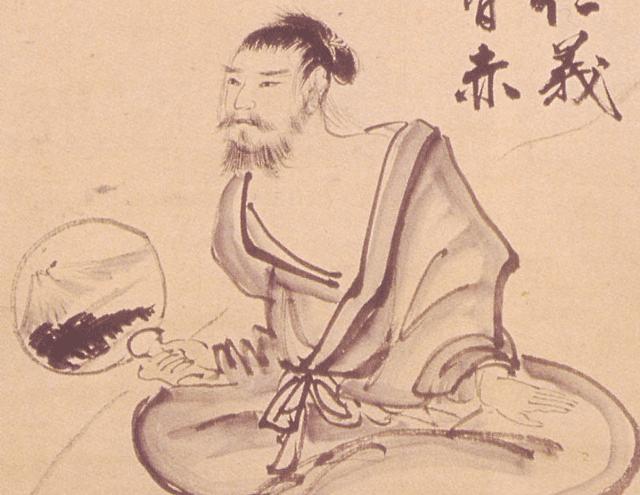 武市半平太が獄中で書いた自画像(京都大学付属図書館 蔵)