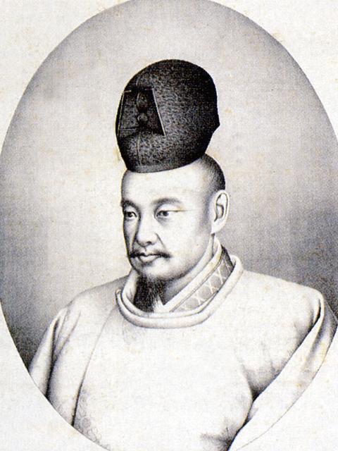 徳川斉昭の像(京都大学付属図書館所蔵)