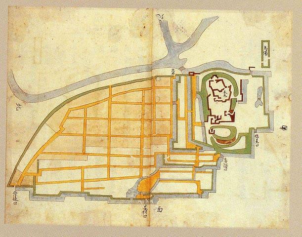 福知山城絵図(名古屋市蓬左文庫蔵)