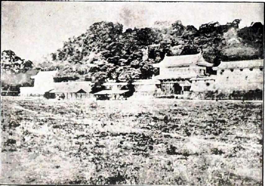鹿児島城の御楼門(1873年以前に撮影)