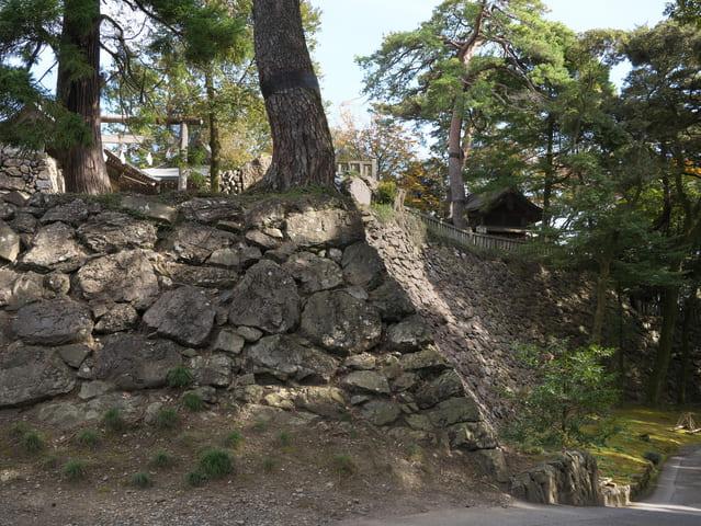 唐沢山城(栃木県佐野市)の本丸石垣