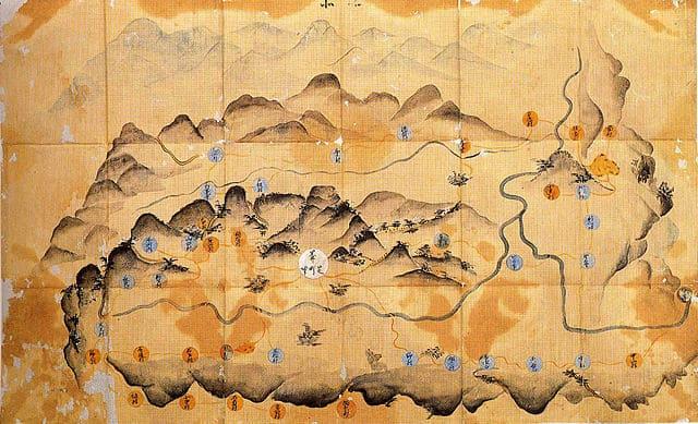 黒井城下周辺図(個人蔵)