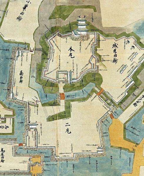 『日本古城絵図』相州小田原城図
