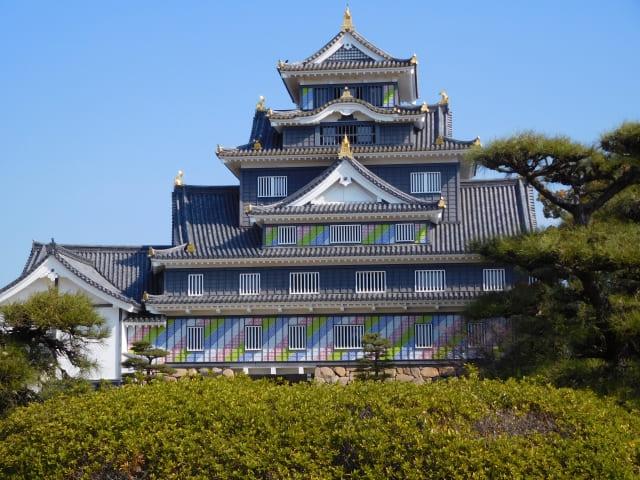 天守が黒漆で塗られ、別名「烏城」と呼ばれる城の名は?