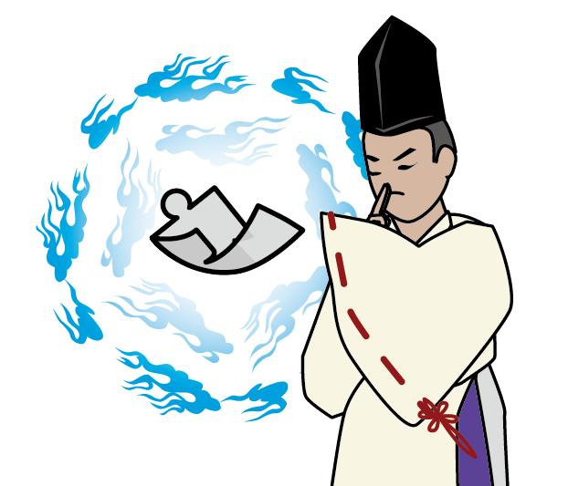 陰陽師のイラスト