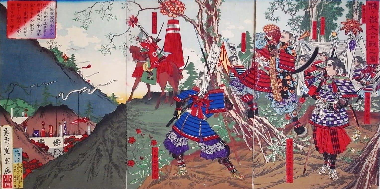 賤ヶ嶽大合戦の図(歌川豊宣 画)