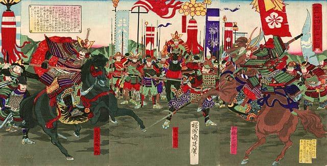 豊公四国征討図(楊洲周延 画)