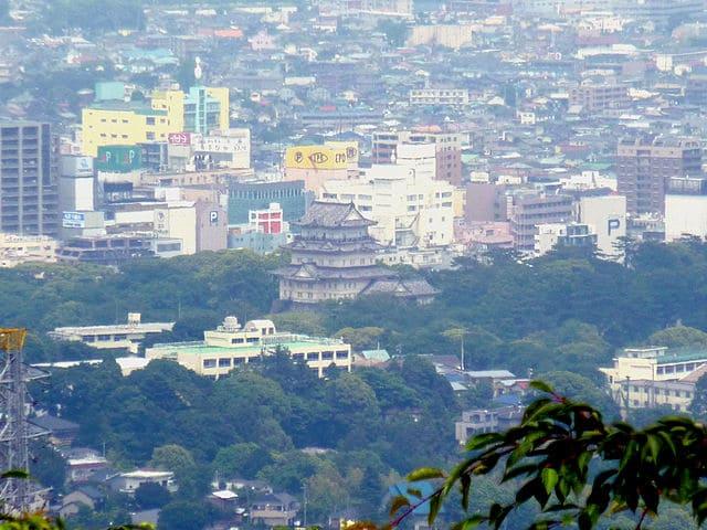 石垣山一夜城から見下ろした小田原城