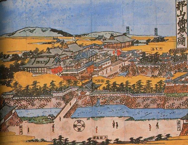 大和郡山城の旧観図(西ヶ谷文庫蔵)