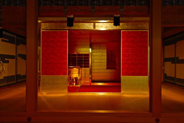 復元された豊臣秀吉の黄金の茶室