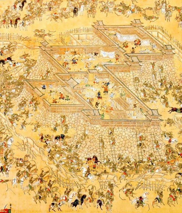 蔚山籠城図屏風(福岡市博物館 所蔵)