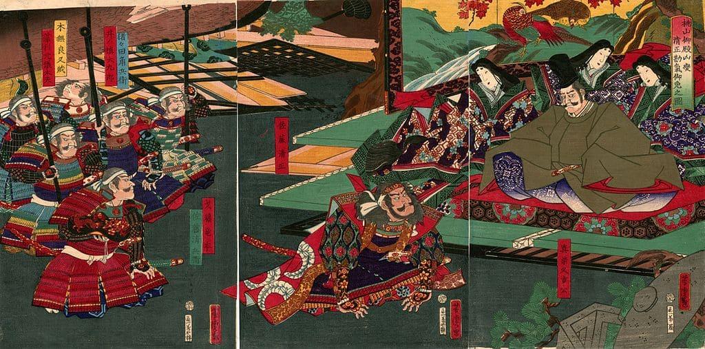 地震加藤の浮世絵(歌川芳虎 画)