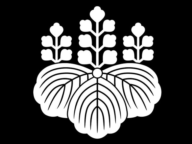 秀吉の家紋として知られる五七桐紋。