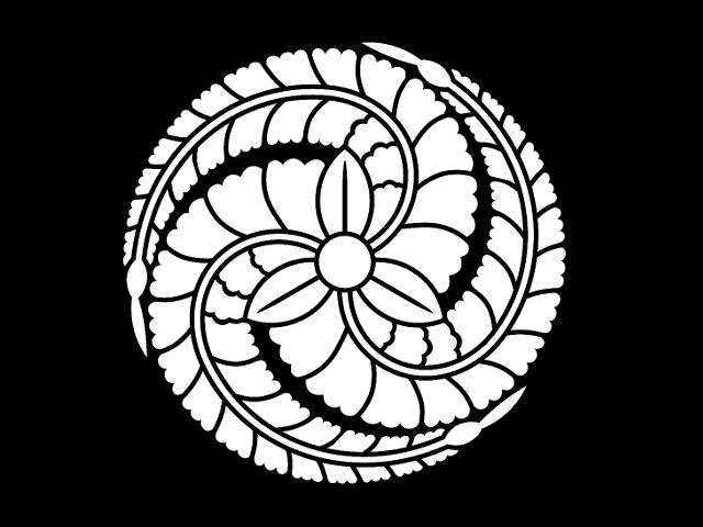 黒田官兵衛の定紋「黒田藤巴」