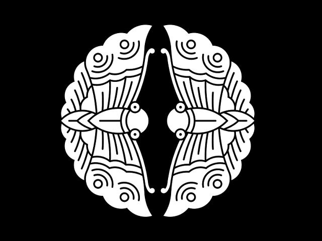 家紋「対い蝶」