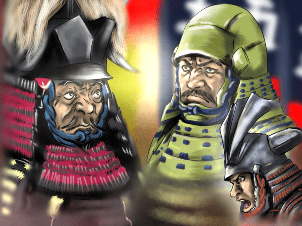 小牧・長久手の戦いのイラスト