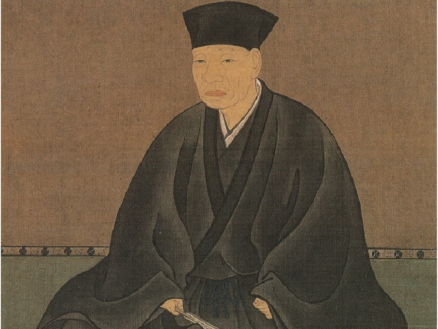 千利休の肖像画(長谷川等伯 画)