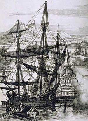 スペインのガレオン船