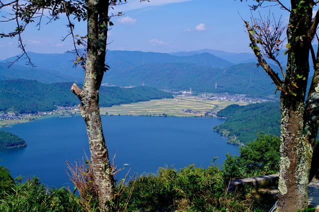 賤ヶ岳山頂からみた余呉湖