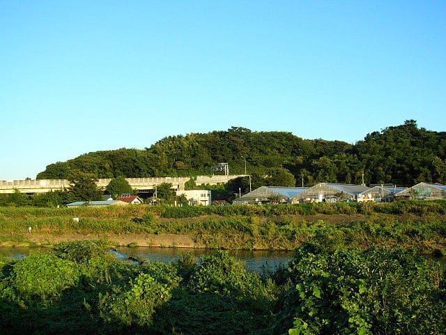 小机城址(神奈川県横浜市港北区小机町)の遠景
