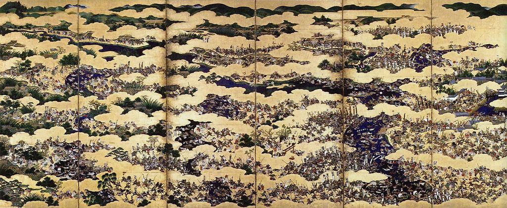大坂夏の陣図屏風 左隻(大阪城天守閣 蔵)