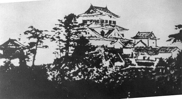 明治時代に破却される前の岡崎城