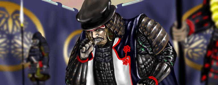 関ケ原の戦いにおける徳川家康陣営のイラスト