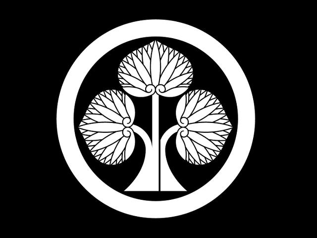 本多氏の家紋「丸に立ち葵」