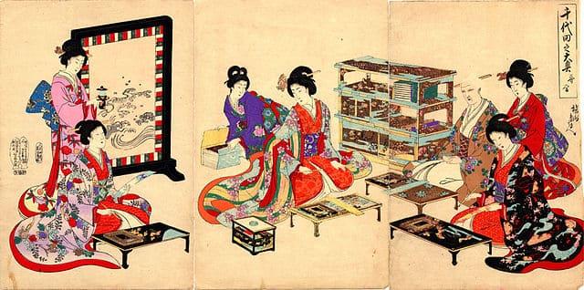 千代田之大奥 歌合(楊州周延 画)