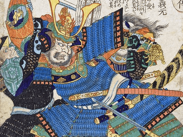今川義元の肖像画(落合芳幾 作)