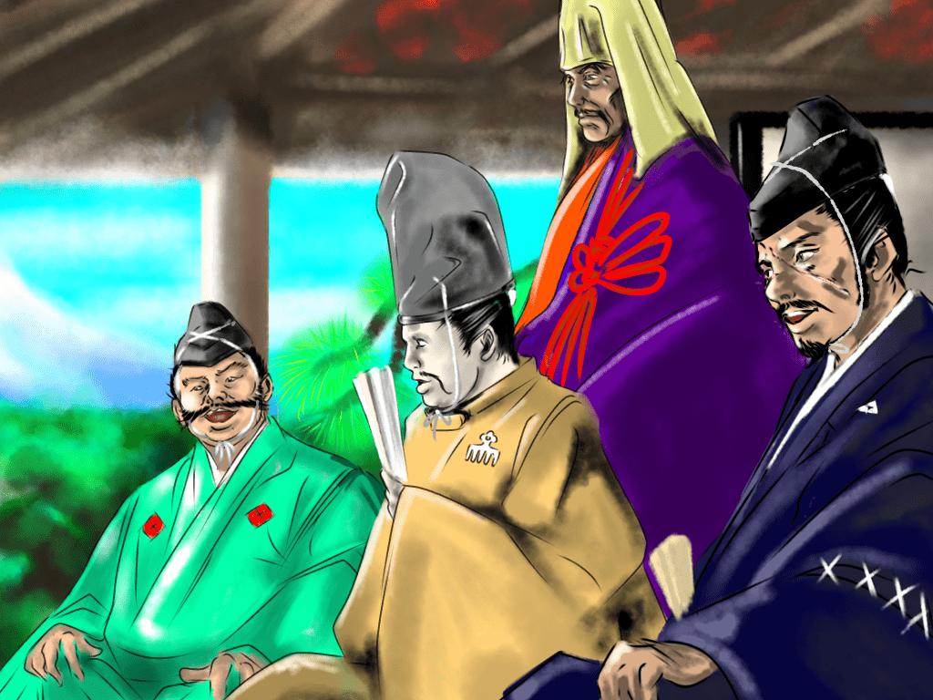 善徳寺の会盟(甲相駿三国同盟)のイラスト