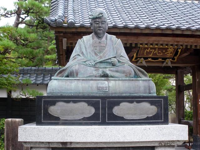 福勝寺(新潟県新発田市)にある新発田重家の像