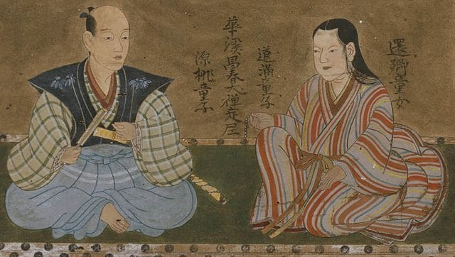長尾政景と仙桃院の肖像画