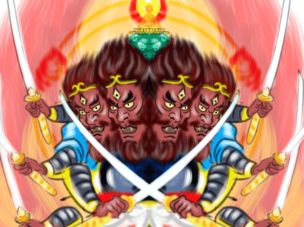 刀八毘沙門天のイメージ