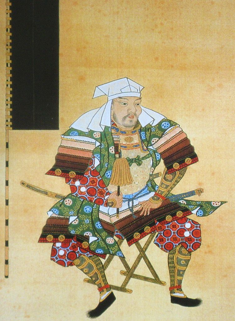 政宗の父・伊達輝宗の肖像(長谷川養辰 画、仙台市博物館所蔵)