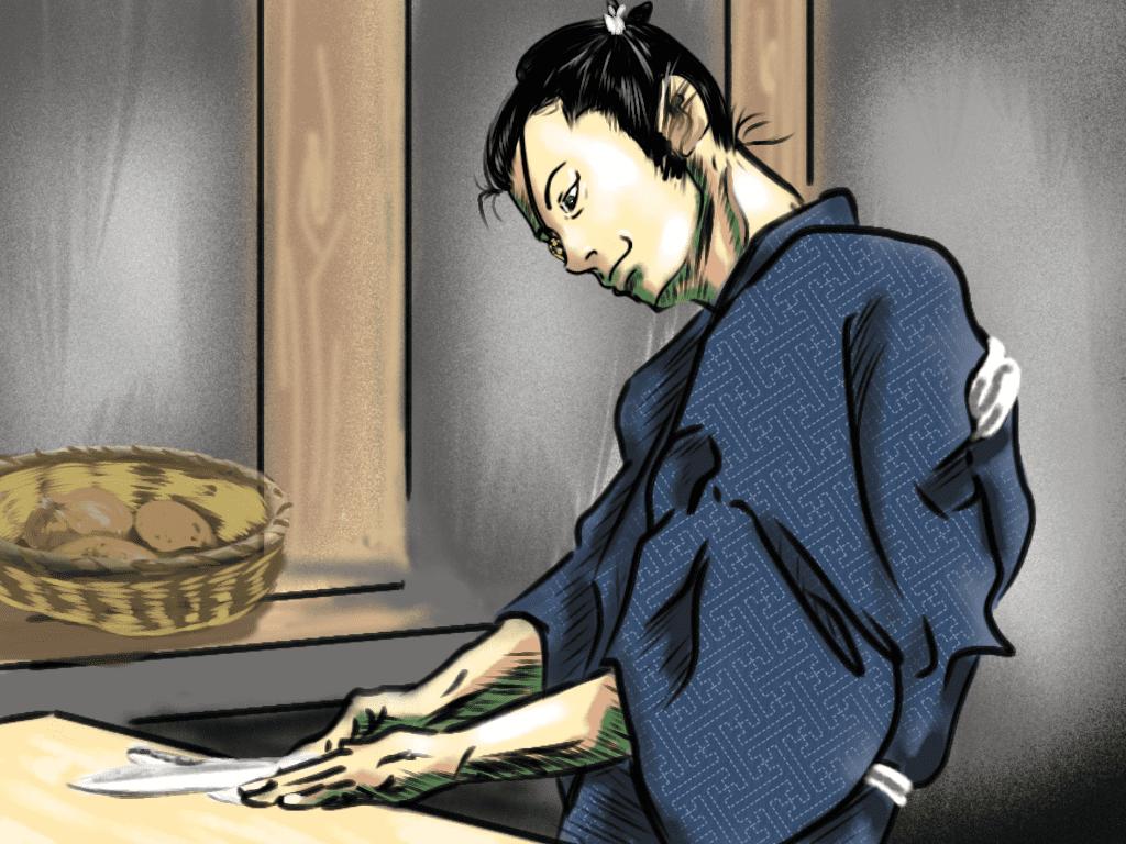 料理人・伊達政宗のイラスト