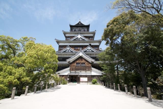 広島城の復元天守