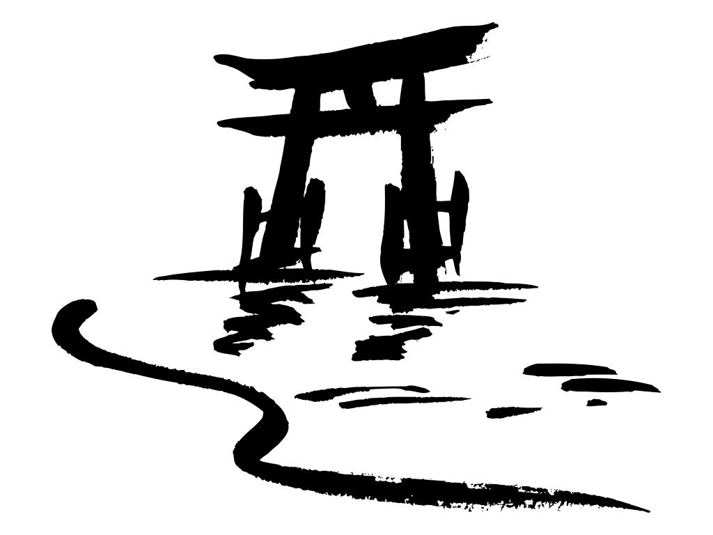 厳島神社のイラスト