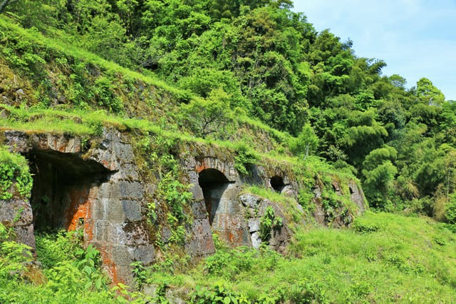 石見銀山の清水谷製錬所跡