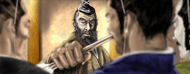 毛利元就のメインビジュアルSP版(三本の矢の逸話)