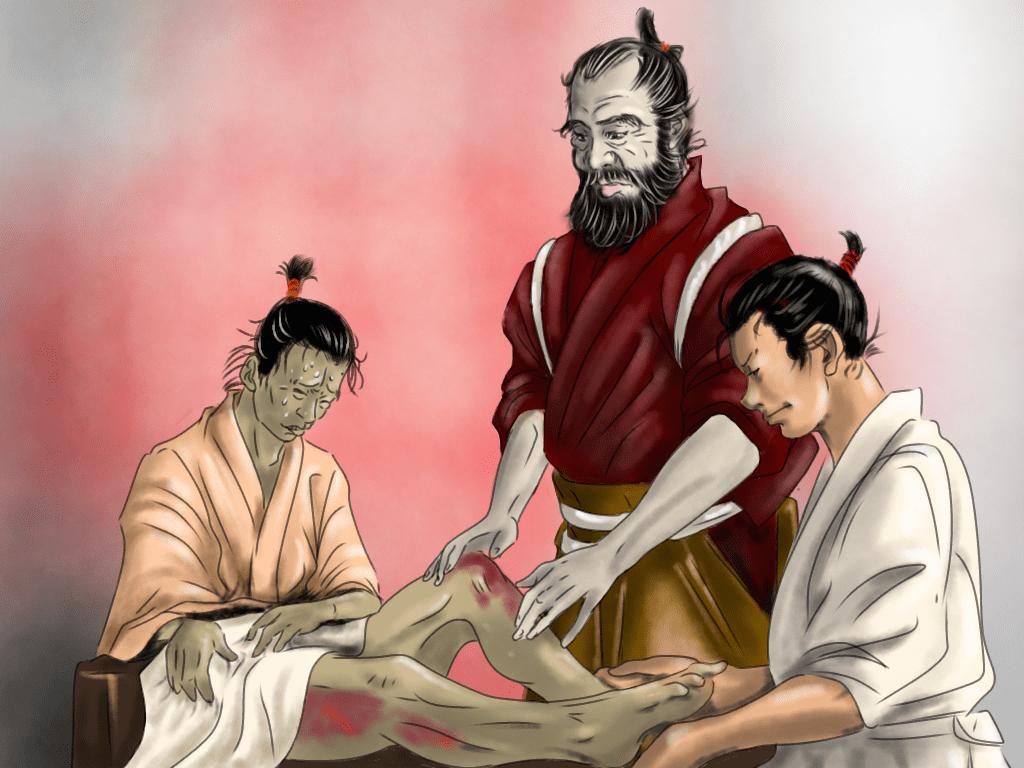 毛利元就の医術イラスト