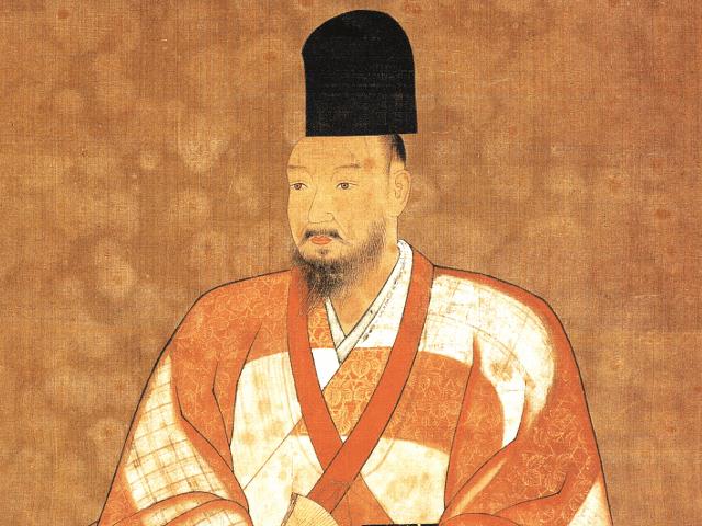 足利義輝の肖像画(国立歴史民俗博物館蔵)
